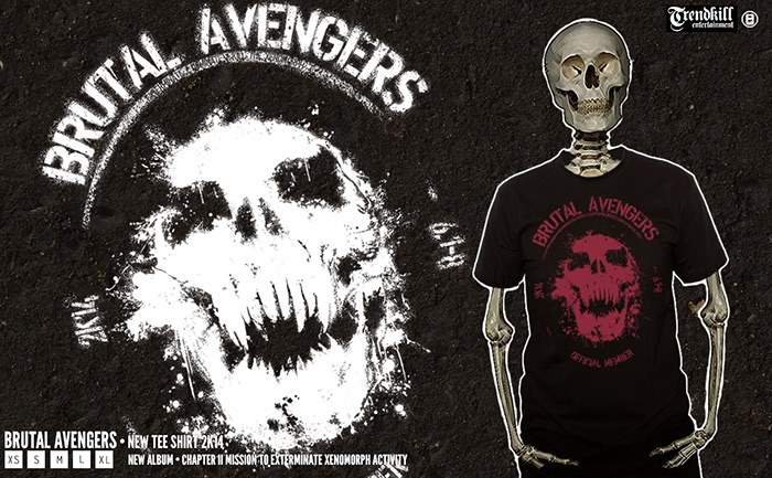 bannière promotionnelle Brutal Avengers Artwork tee shirt 2014 - ZEgobelin - Artwork death metal - france